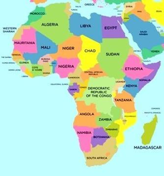 Afrika Karte Staaten.Navi Mieten Namibia Botswana Sambia Simbabwe Mosambik Malawi
