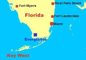 Karte Florida Miami.Navi Mieten Miami Everglades Florida Usa Deutsche Gerate