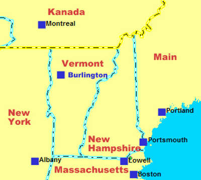 Navi mieten Vermont USA. Deutsche Geräte -NAVI MIETEN WORLD