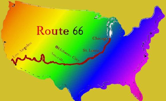 route 66 navi mieten leihen mit usa karte navi mieten world. Black Bedroom Furniture Sets. Home Design Ideas